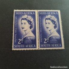 Sellos: SUDÁFRICA,1953,CORONACIÓN ISABEL II,SCOTT 192**,PAREJA,NUEVOS SIN FIJASELLO,(LOTE AG). Lote 147717038
