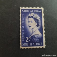 Sellos: SUDÁFRICA,1953,CORONACIÓN ISABEL II,SCOTT 192**,NUEVO SIN FIJASELLO,(LOTE AG). Lote 147717270