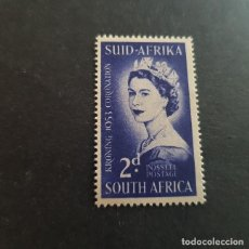 Sellos: SUDÁFRICA,1953,CORONACIÓN ISABEL II,SCOTT 192**,NUEVO SIN FIJASELLO,(LOTE AG). Lote 147717306