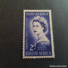 Sellos: SUDÁFRICA,1953,CORONACIÓN ISABEL II,SCOTT 192**,NUEVO SIN FIJASELLO,(LOTE AG). Lote 147717350