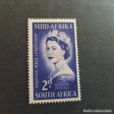 Sellos: SUDÁFRICA,1953,CORONACIÓN ISABEL II,SCOTT 192*,NUEVO,SEÑAL FIJASELLO,(LOTE AG). Lote 147717434
