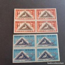 Sellos: SUDÁFRICA,1953,CENTENARIO EMISIÓN POSTAL,SCOTT 193-194**,BLOQUE DE 4,NUEVOS SIN FIJASELLO,(LOTE AG). Lote 147727750