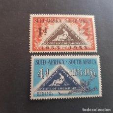 Sellos: SUDÁFRICA,1953,CENTENARIO EMISIÓN POSTAL,SCOTT 193-194**,NUEVOS SIN FIJASELLO,(LOTE AG). Lote 147730594