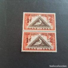 Sellos: SUDÁFRICA,1953,CENTENARIO EMISIÓN POSTAL,SCOTT 193**,PAREJA,NUEVOS SIN FIJASELLO,(LOTE AG). Lote 147734642