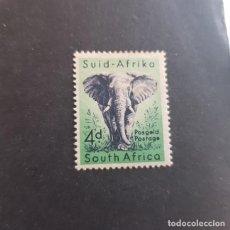 Sellos: SUDÁFRICA,1954,ELEFANTE,SCOTT 205*,NUEVO,SEÑAL FIJASELLO,(LOTE AG). Lote 148189186