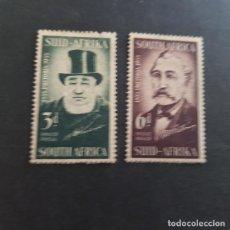 Sellos: SUDÁFRICA,1955,MARTINUS WESSELS Y PAUL KRUGER ,SCOTT 214-215*,NUEVOS,SEÑAL FIJASELLO,(LOTE AG). Lote 148197214