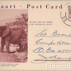 Sellos: SUDAFRICA & INTERO, PARQUE NACIONAL KRUGER, ALKMAAR, MPUMALANGA A JOHANNESBURGO 1961 (7687). Lote 153095926
