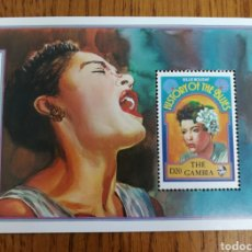 Sellos: GAMBIA : BILLIE HOLLIDAY, LEYENDAS DE JAZZ, MÚSICA, MNH.. Lote 154236870