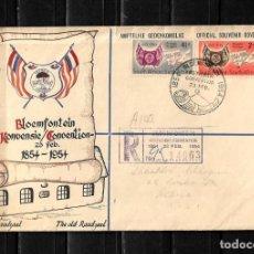 Sellos: SUDAFRICA 1954 SOBRE PRIMER DIA CERTIFICADO DE LA CONVENCION DE BLOEMFONTEIN . Lote 154624690