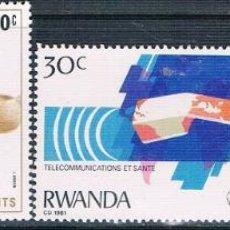Sellos: RWANDA 1981 - YVERT 974 + 984 + 985 + 1009 ( ** ) . Lote 154929142