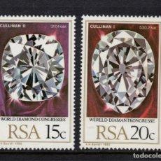Sellos: SUDAFRICA 476/77** - AÑO 1980 - CONGRESO MUNDIAL DEL DIAMANTE. Lote 154964562