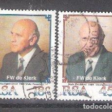 Sellos: REPÚBLICA SUDAFRICANA Nº 700/701º PRESIDENTE DE KLERK. SERIE COMPLETA. Lote 157120966
