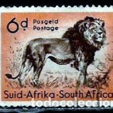 Sellos: SUDAFRICA SCOTT: 225-(1960) (LEON) USADO. Lote 158852854
