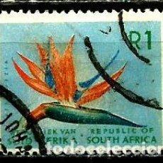 Sellos: SUDAFRICA SCOTT: 266-(1961) (STRELITZIA) USADO. Lote 158855238