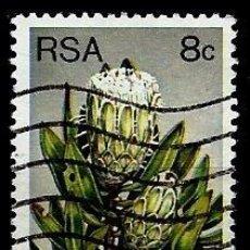 Sellos: SUDAFRICA SCOTT: 482A-(1982) (FOREST SUGARBUSH (PROTEA MUNDII) USADO. Lote 158967902