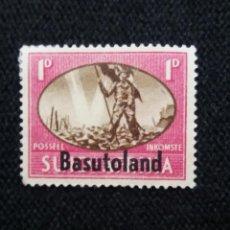 Sellos: SUDAFRICA BASUTOLAND, 1 D, AÑO 1947. SOBREESCRITO.. Lote 168744488