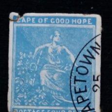 Sellos: SUDAFRICA, CAPE OF GOOD HOPE, FOUR PENCE, AÑO 1965. SIN DENTAR. Lote 169827160