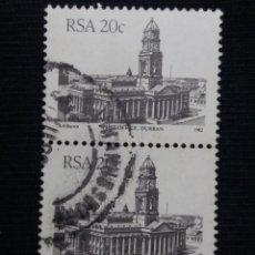 Sellos: R.SUDAFRICA, 20 C, POST OFFICE DURBAN, AÑO 1985,. Lote 171709515