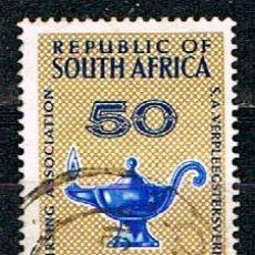 Sellos: AFRICA DEL SUR Nº 340, 50 ANIVERSARIO DE LA ASOCIACIÓN SUDAFRICANA DE ENFERMERÍA, USADO. Lote 172834998