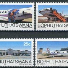 Sellos: BOPHUTHATSWANA 1986 IVERT 177/80 *** 5º ANIVERSARIO DE LA COMPAÑIA AEREA DE BOPHUTHATSWANA - AVIONES. Lote 176200134