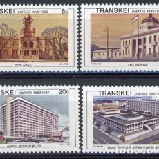 Sellos: TRANSKEI 1982 IVERT 111/4 *** CENTENARIO DE LA CIUDAD DE UMTATA - ARQUITECTURA - MONUMENTOS. Lote 176258178