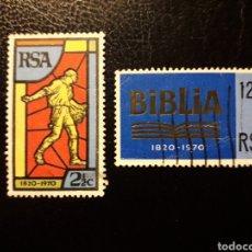 Sellos: SUDÁFRICA YVERT 326/7 SERIE COMPLETA USADA. BIBLIA. SOCIEDAD BÍBLICA.. Lote 180887136