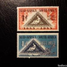 Selos: SUDÁFRICA YVERT 194/5 SERIE COMPLETA NUEVA SIN CHARNELA. SELLOS SOBRE SELLOS.. Lote 180889600