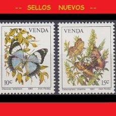 Sellos: LOTE SELLOS NUEVOS - SUDAFRICA VENDA - MARIPOSAS - AHORRA GASTOS COMPRA MAS SELLOS. Lote 191652566