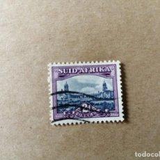 Sellos: SUDAFRICA - VALOR FACIAL 2 D - AÑO 1950 - PARLAMENTO DE PRETORIA - SCOTT 55B. Lote 192644025
