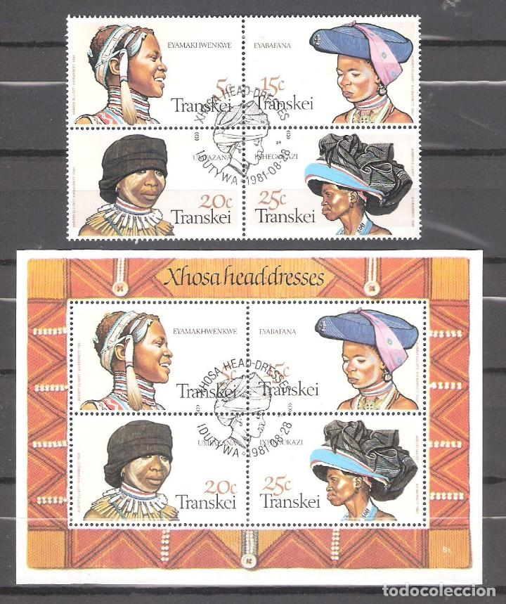 TRANSKEI (REP. SUDAFRICANA) Nº 92/95 + HB 1º PEINADOS DE LAS XHOSA. SERIE COMPLETA (Sellos - Extranjero - África - Sudáfrica)