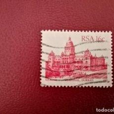 Sellos: SUDÁFRICA - RSA - VALOR FACIAL 16 C - AÑO 1987 - STADSAAL, DURBAN - SG NRO. 622. Lote 196004588