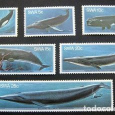 Sellos: SOUTH WEST AFRICA 1980 WHALES, MNH AM.047. Lote 198277096