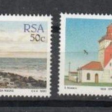 Sellos: SUDAFRICA RSA 1988 - FAROS - YVERT Nº 656/659**. Lote 199583528