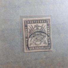 Sellos: SUDÁFRICA, TRANSVAAL. NÚMERO 10. EEN PENNY 1870. Lote 201846418