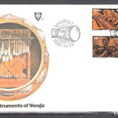 Sellos: VENDA (REP. SUDAFRICANA) Nº 50/53º EN S.P.D. INSTRUMENTOS MUSICALES NATIVOS. SERIE COMPLETA. Lote 201980340