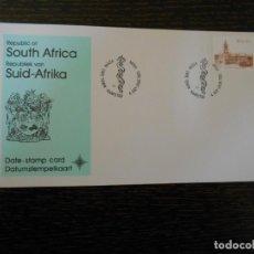 Sellos: SUDAFRICA-CARTON IMPRESO CON SELLO-1982-1983. Lote 203154571