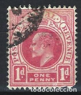 NATAL 1902 - EDUARDO VII, CARMÍN INSCRIPCIÓN POSTAGE REVENUE - SELLO USADO (Sellos - Extranjero - África - Sudáfrica)