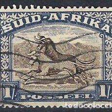 Sellos: SUDÁFRICA 1927 - MOTIVOS LOCALES, 1 S AZUL - SELLOS USADOS. Lote 210021182