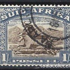 Sellos: SUDÁFRICA 1927 - MOTIVOS LOCALES, 1 S AZUL - SELLOS USADOS. Lote 210021191