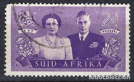 SUDÁFRICA 1947 - VISITA REAL - SELLO USADO (Sellos - Extranjero - África - Sudáfrica)