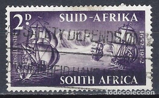 SUDÁFRICA 1952 - 300º ANIV. DESEMBARCO DE VAN RIEBEECK, BARCO - SELLO USADO (Sellos - Extranjero - África - Sudáfrica)