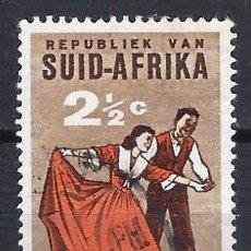 Sellos: SUDÁFRICA 1962 - DANZA FOLKLÓRICA , VOLKSPELE- SELLO USADO. Lote 210026525