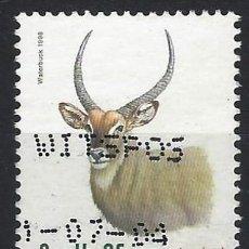 Sellos: SUDÁFRICA 1998 - FAUNA EN PELIGRO DE EXTINCIÓN, ANTÍLOPE WATERBUCK - SELLO USADO. Lote 210028880