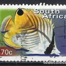 Sellos: SUDÁFRICA 2000 - FAUNA PECES TROPICALES - SELLO USADO. Lote 210029230