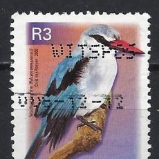 Sellos: SUDÁFRICA 2000 - FAUNA AVES, HALCYON SENEGALENSIS - SELLO USADO. Lote 210030096