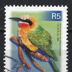 Sellos: SUDÁFRICA 2000 - FAUNA AVES, MEROPS BULLOCKOIDES - SELLO USADO. Lote 210030207