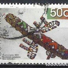 Sellos: SUDÁFRICA 2010 - MANUALIDADES, TRABAJO EN PERLAS, AEROPLANO - SELLO USADO. Lote 210030951