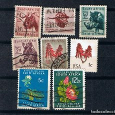 Sellos: SUDAFRICA 1960S FAUNA Y FAUNA AFRICANA - LOTE 8 SELLOS USADOS ANTIGUOS DIFERENTES FAUNA AFRICANA. Lote 217504501