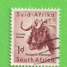 Sellos: SUDÁFRICA - MICHEL 260I - YVERT 222 - FAUNA AFRICANA.. (1959).. Lote 219186471
