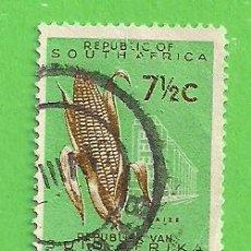 Sellos: SUDÁFRICA - MICHEL 321 - YVERT 286C (286) - AGRICULTURA - CULTIVO MAIZ. (1966).. Lote 219187156